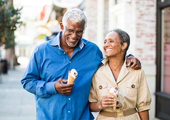 happy elderly african american couple